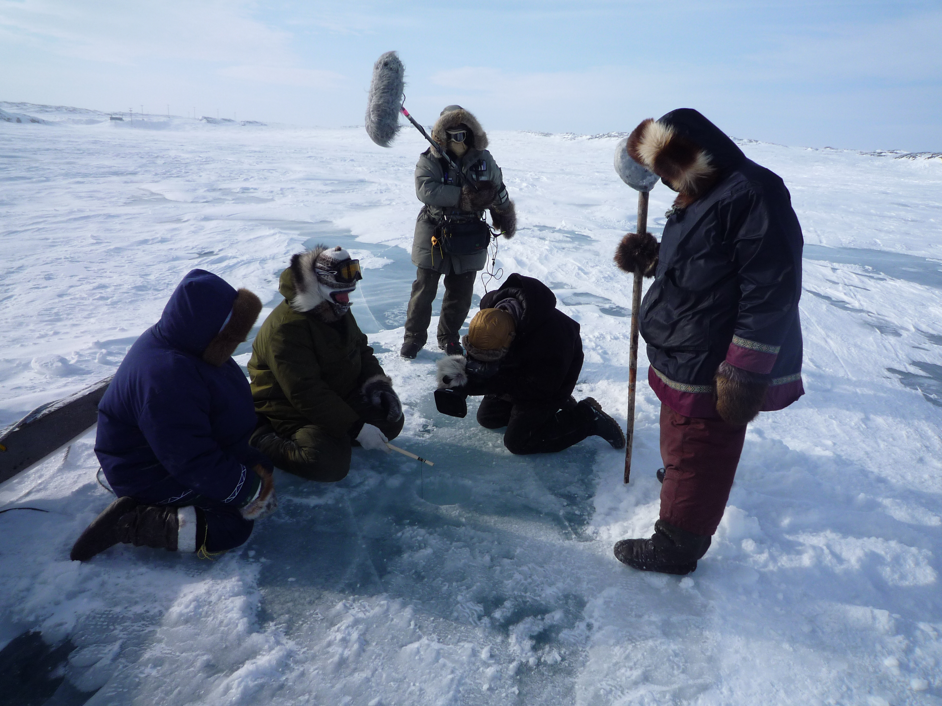 Icefishing in Canadian Arctic
